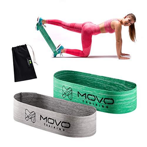 MOVO Mini Band Set Optimum+Hard   30 x 5 cm   Resistance Gymnastik Sport Training Bands   Fitness-Bänder von verschiedenen Stärken   Elastisch   Dehnungsbänder für Krafttraining   Waschmaschinenfest