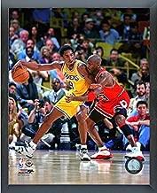 Kobe Bryant & Michael Jordan NBA Action Photo (Size: 12