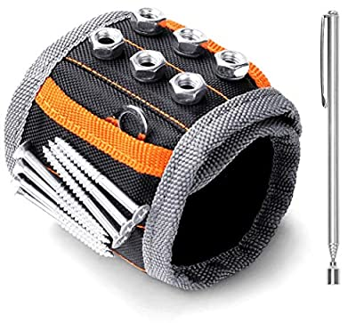 HORUSDY Magnetic Wristband,with Strong Magnets for Holding Screws, Nails, Drilling Bits, of The Best Christmas Day Tools for Men (Gift) from HORUSDY