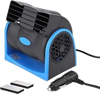 HITOPTY 12v Electric Car Dash Fan with Cigarette Lighter Plug for Auto Sedan Vehicle Pickup Van