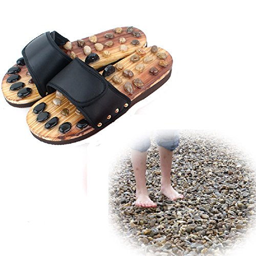 HHORD Sandali Da Massaggio In Pietre Di Agata Per Uomo Pantofole Per Massaggio Ai Piedi Calzature Per Piedi Relax Pantofole Antiscivolo Per Il Bagno Scarpe Regolabili Superiori,37~39