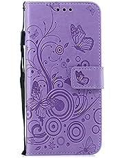 Docrax Galaxy S9+ / docomo SC-03K / au SCV39 ケース 手帳型 スタンド機能 財布型 カードポケット マグネット ギャラクシーS9プラス 手帳型ケース レザーケース カバー - DOXCH030288 紫