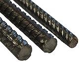 Acero corrugado en varillas, 10 unidades, de 4 a 16 mm de diámetro, en diferentes longitudes.