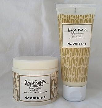 Origins Body Care Sets Ginger Souffle Whipped Body Cream 4.2oz Burst Savory Body Wash 3.4oz
