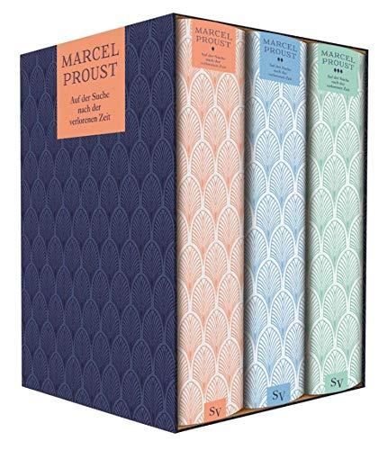 Marcel Proust: Auf der Suche nach der verlorenen Zeit 3 Bände im Schuber + 1 exklusives Postkartenset