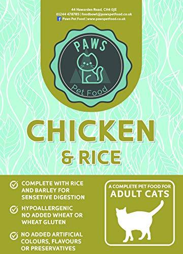 Paws Pet Food Super Premium Senior Cat Food Kibble Chicken Fish and Rice (7.5kg)