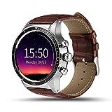 KLAYL Intelligente Uhr Y3 Smart Watch Mit SIM Slot IP65 wasserdichte Bluetooth Quad Core GPS Smartwatch Mann/Frau Smart Watches Für Xiaomi Huawei Phone, Braun