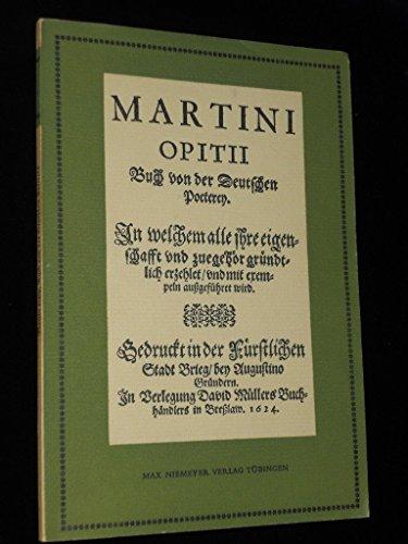 Buch von der Deutschen Poeterey (1624) (Neudrucke deutscher Literaturwerke. N. F., 8, Band 8)