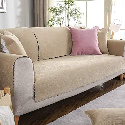 JKL J-Almohada Antideslizante Sofá Cover Felpa Funda de sofá, Cojines for 4, a Prueba de Agua Mat Sofá Sofá Universal de Toallas Muebles Protector Funda (Color : A, Size : 70x210cm(28x83inch))