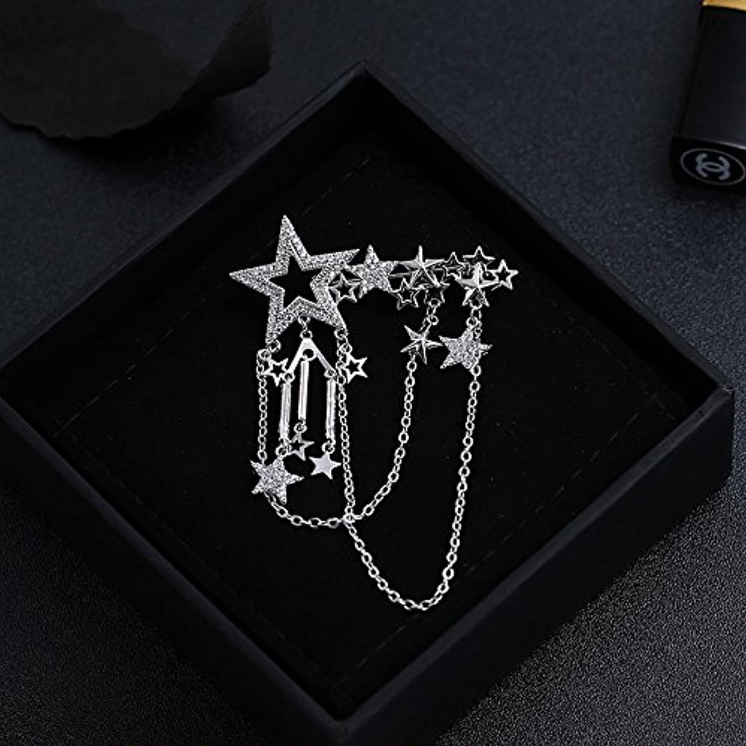 Stars Male and Women Girls Models Tassel Brooch pin Badge Fashion Jewelry pin Brooch pin Badge Personalized Clothing Accessories