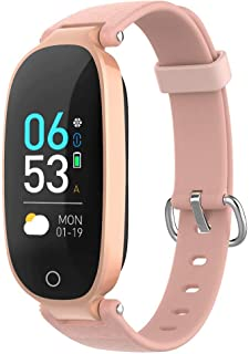 Fitness Tracker for Women, AGPTEK IP68 Waterproof Smart Bracelet with Upgraded Color Screen, 16 Sport Mode Heart Rate Monitor Sleep Monitor Pedometer Calorie, Compatible with Android IOS