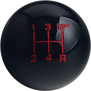 DEWHEL Fing Fast Shift Knob 5 Speed Short Throw Shifter M12x1.25 M10x1.5 M10x1.25 M8x1.25 Black