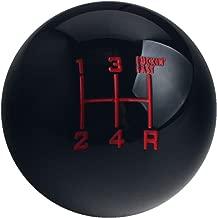 DEWHEL Fing Fast Shift Knob 5 Speed Short Throw Shifter M12x1.25 M10x1.5 M10x1.25 M8x1.25 Black