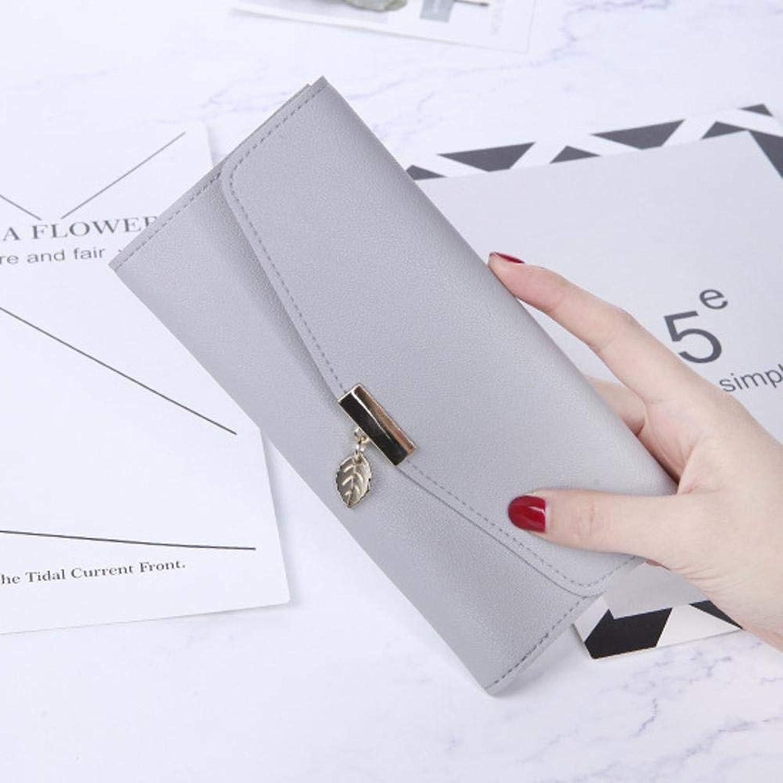 Girls Purse Women's Wallet Large Lady WallePU Leather (color   E)