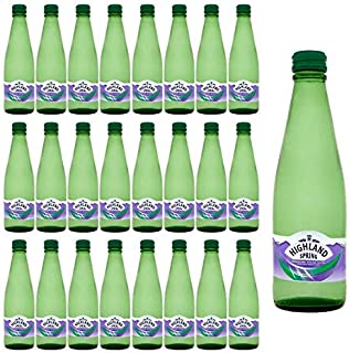 Highland Spring Sparkling Water Glass - 330 ml (pack of 24)