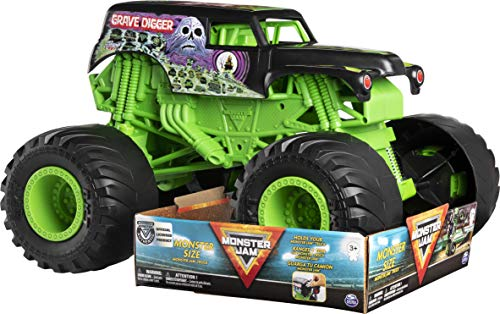 Monster Jam, Monster Size Grave Digger Monster Jam Truck, 1:10 Scale, Multicolor