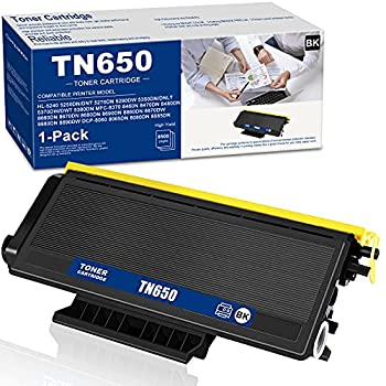Compatible  1-PK,Black  TN650 TN-650 High Yield Toner Cartridge Replacement for Brother HL-5350DN 5280DW 5240/DNLT 5270DN 5250DN 5380DN/DWT MFC-8460N 8370/DNT 5370DW Printer Sold by NEODAYNET.
