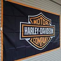 ハーレーダビッドソン 特大フラッグ 150x90㎝ ロゴ 装飾 ガレージ コレクション タペストリー 旗 バナー