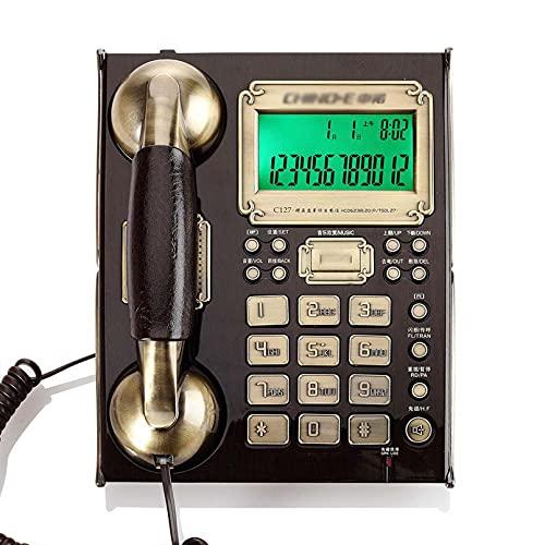 Teléfono con Cable Retro Oficina en casa Teléfono Fijo Teléfono Fijo con Pantalla de identificación de Llamadas Hablando Marcación con botón Grande Llamadas con Manos Libres Teléfono Retro con Cable