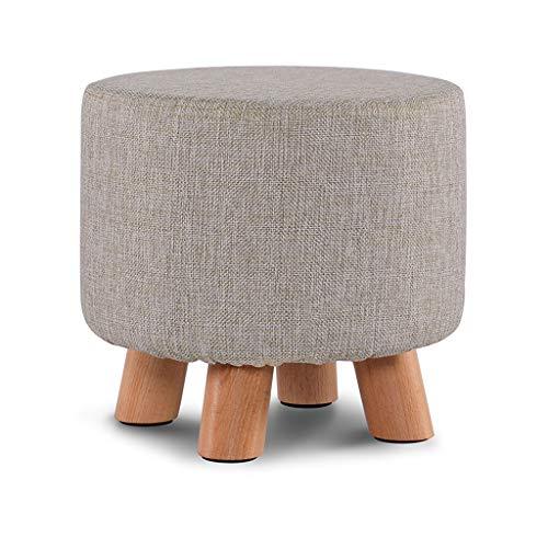 Taburete pequeño de madera maciza de madera de los zapatos de la moda de los zapatos del banco creativo taburete de la silla del sofá taburete de la mesa del café taburete del hogar (color: gris)