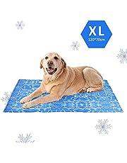 Amzdeal Alfombrilla de refrigeración para perros, gatos y mascotas, cojín de refrigeración para perros, resistente al agua y duradera, alfombrilla versátil para cama de perros, cesta para perros