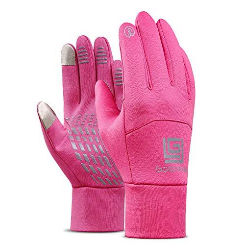 Story of life Winter Outdoor Sport Handschuhe Touchscreen Männer Und Frauen Vollfinger Wasserdicht Und Winddicht Warmes Reiten Sowie Samt Ski Handschuhe,Rosa,S