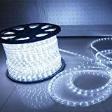 HuiZhen Indoor Outdoor Rope Lights,110v 100ft Connectable led Rope Lights...