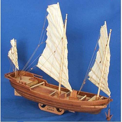 YLJYJ Modèle de bateau salon decorations Chem voilier modèle classique bateau à voile mer du nord chalutier modèle bateau bois jouets pour cadeau pour la decor