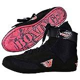 Velo Zapatos de Boxeo de Cuero para Deportes de Combate de Entrenamiento de maestría, Unisex, para Hombres y jóvenes, Botas genuinas, Ligeras, Color Negro, para Adultos (Largo, Negro, 43)