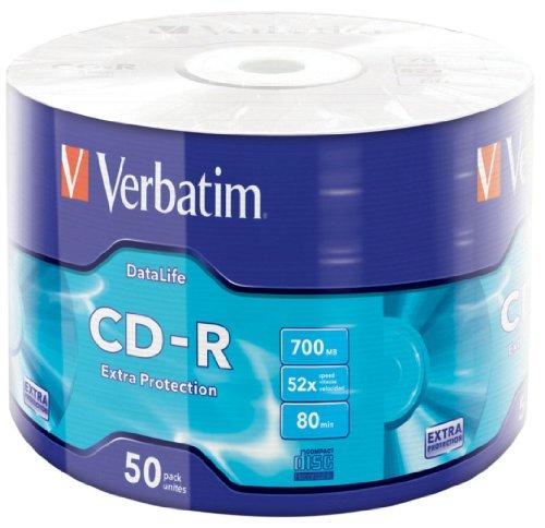 Verbatim 43787 CD-R 700MB 50pezzo(i) CD vergine - CD-RW (CD-R, 700 MB, 50 pezzo(i), 52x