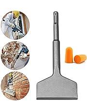Inntek SDS mejsel, platt mejsel, mejsel SDS Plus, SDS mejselbit, bred mejsel storlek 14 x 165 x 75 mm vinkel 15 ° professionellt verktyg antioxidant stål superhållbart med öronproppar