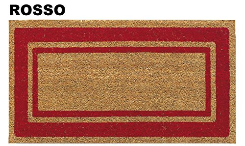 CASA TESSILE Zerbino in Cocco Super cm 50X90 - Rosso