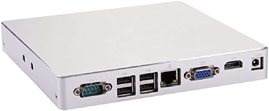 Mini PC,Desktop Computer,with Windows 10 Pro/Linux Ubuntu Support,Intel Core I5 2520M,(Silver),[HUNSN BH08],[COM/VGA/HDMI/LAN/8USB2.0/Fan],(128G SSD/1TB HDD)