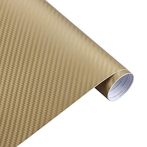 Vinilo Fibra Carbono, Fibra Carbono Adhesiva 30cmx127cm de fibra de carbono Vinyl Car Wrap Wrap Roll Película Coche Pegatinas y Calcomanía Accesorios de Accesorios de Estilo Automocional
