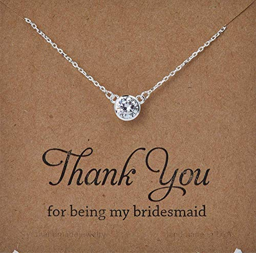 Diamond Cut CZ stone necklace,Dimaond by the yard design
