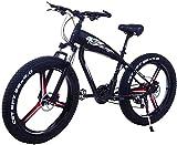 Bicicleta electrica, Bicicleta eléctrica para adultos - Neumático de grasa 26inc 48V 10Ah Mountain E-bike - con batería de litio de gran capacidad - 3 modos de montar Disc Freno de disco Batería de li