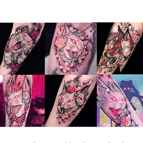 YSYYSH Brazo Pintura Oscura Tatuaje Pegatinas Hermana Suave Gato ...