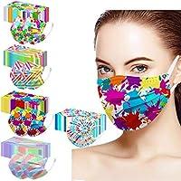 Beautynie 50 Stück Einmal-Mundschutz Rosa, Staubschutz Atmungsaktive Mundbedeckung, Erwachsene, Bandana Face Cover...