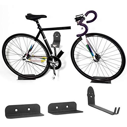 Soporte Para Bicicletas, Soporte Para Bicicletas De Montaje En Pared, Soporte De Pared De Acero De Alto Carbono De 3 Piezas, Juego De Soporte Para Soporte De Bicicleta De Montaña, Para Garaje O Casa