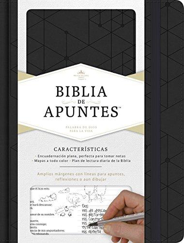 Rvr 1960 Biblia de Apuntes, Negro Símil Piel