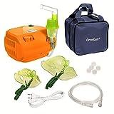omnibus br-cn116b - nuevo inhalador compresor nebulizador inhalador compacto para nebulizador inhaladores bebe electrico, naranja