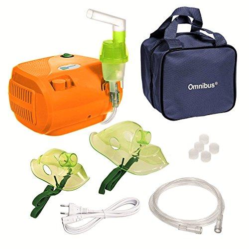 Omnibus CN116B inhalator aerosol therapie vernevelaar inhalatie compressor LET OP met 2 stekkers Engeland UK stekker en Euro stekker !!! !