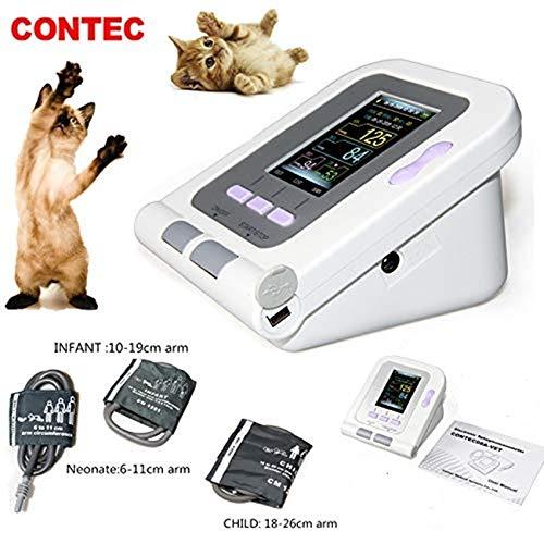Contec 08A-VET Tensiomètre numérique de vétérinaire avec moniteur de pression artérielle non invasive (NIBP) pour poignet, chien, chat, animaux de compagnie