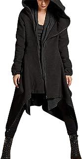 Frashing-Damen M/äntel Lange Winter Wollmantel Elegant Winterjacke Slim Fit Trenchcoat Klassischen Doppelten Vintage Jacke Windmantel Gothic M/äntel Kleider Outwear
