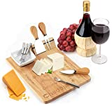 Cheese Board Set - Set Includes 3 Piece Cheese Knife Set & 4 Small...