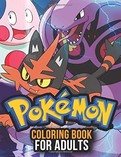 Pokemon Coloring Book: Pokemon Coloring Books with Relaxation and Stress Relief Design for Adults