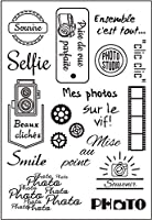 French Words Transparent Clear Stamps for DIY Scrapbooking/Card Making/Kids Christmas Fun Decoration Supplies ST0054