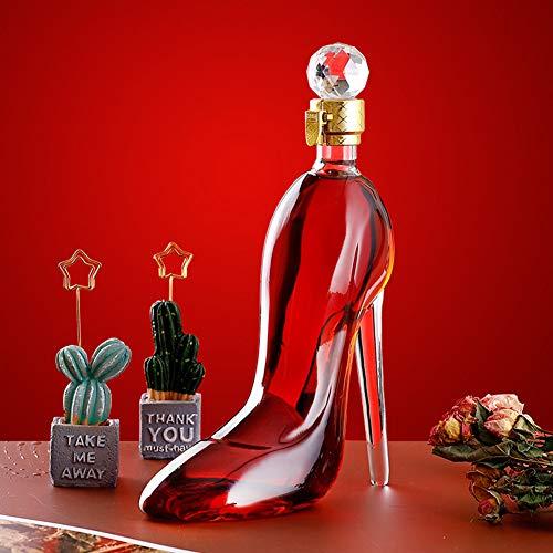 750 ml forma de talones decantador transparente vino tinto copas de champán botella decantador para bar discoteca beber, 750 ml