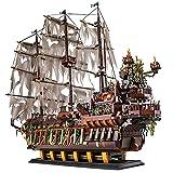 KEAYO Piratenschiff Modell, Mould King 13138, Fliegender Holländer Segelschiff, 3653 Teile Groß MOC Klemmbausteine Bauset Kompatibel mit Lego Piratenschiff