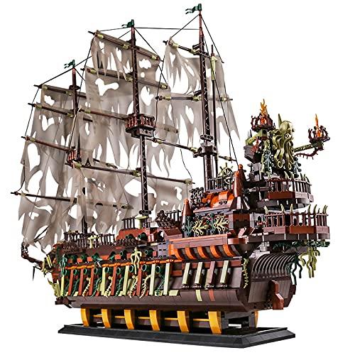 KEAYO Modèle de bateau pirate Mould King 13138, bateau à voile hollandais volant, 3653 pièces, grand kit de montage compatible avec le bateau pirate Lego